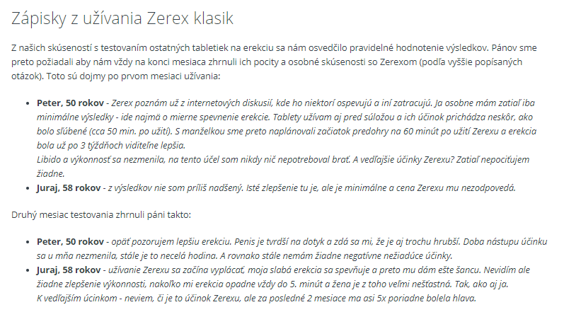 Recenzia a skúsenosti Zerex